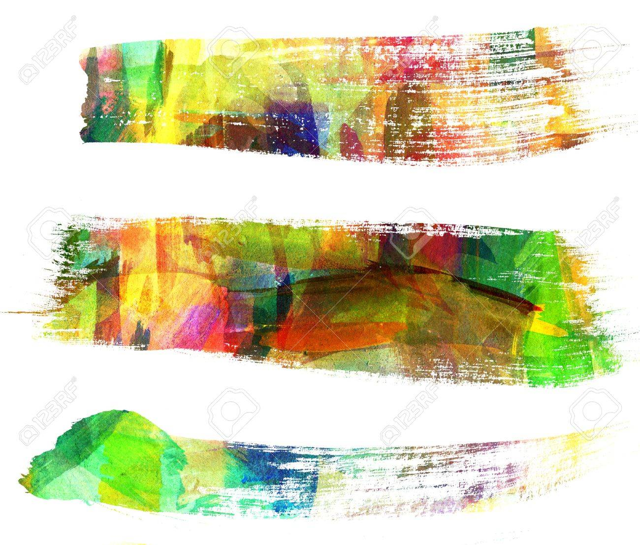 Abstract guasch painting, Brush stroke, Blot Stock Photo - 16898743