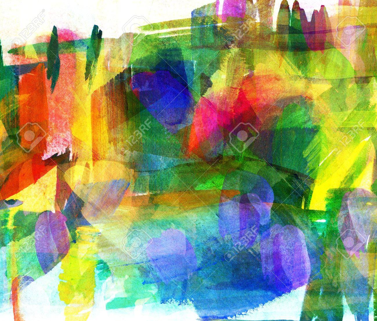 Abstract oil painting, Blurred spot, Freehand drawing Stock Photo - 16900334