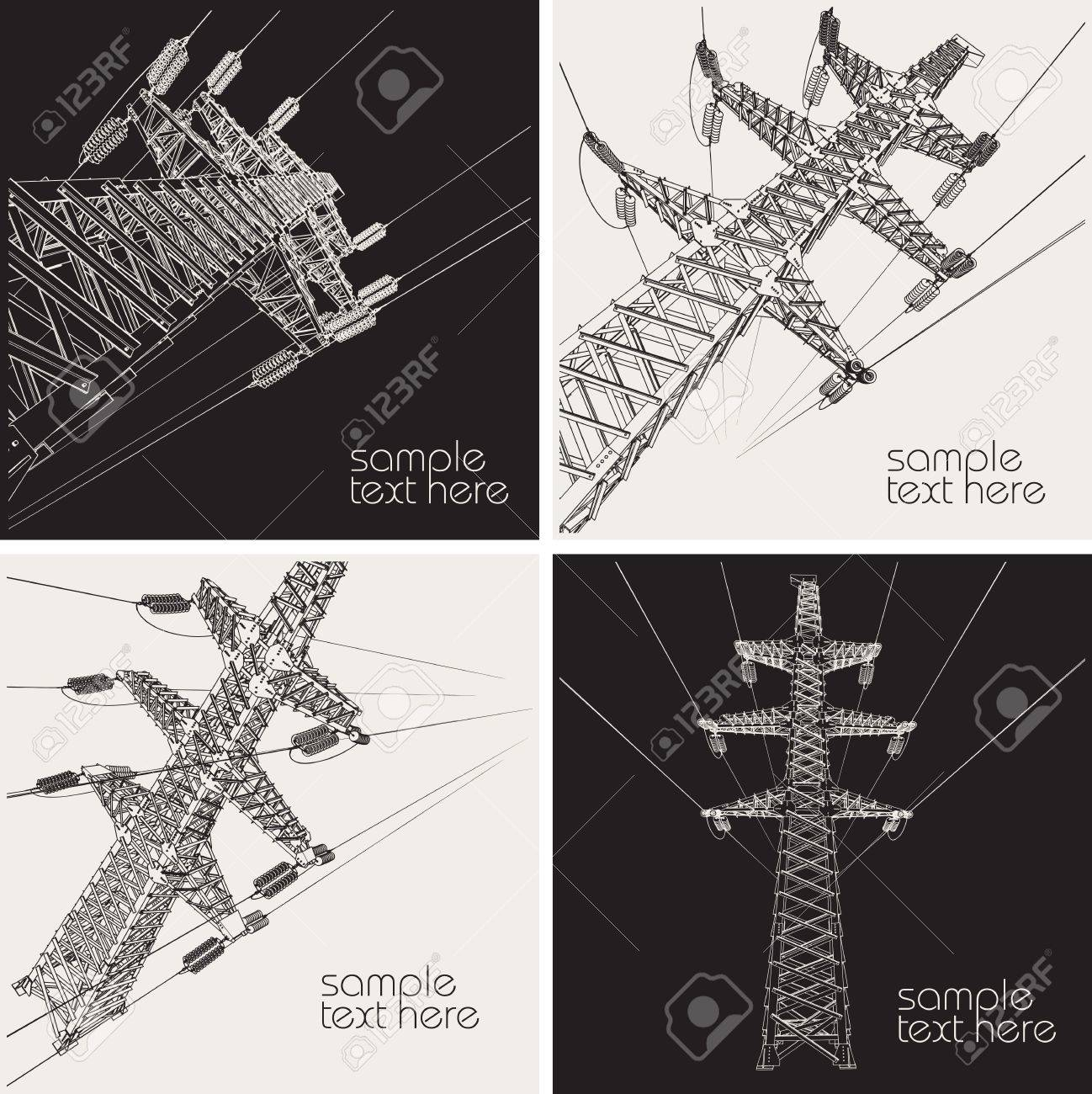 Power Transmission Line, vector illustration - 17049788