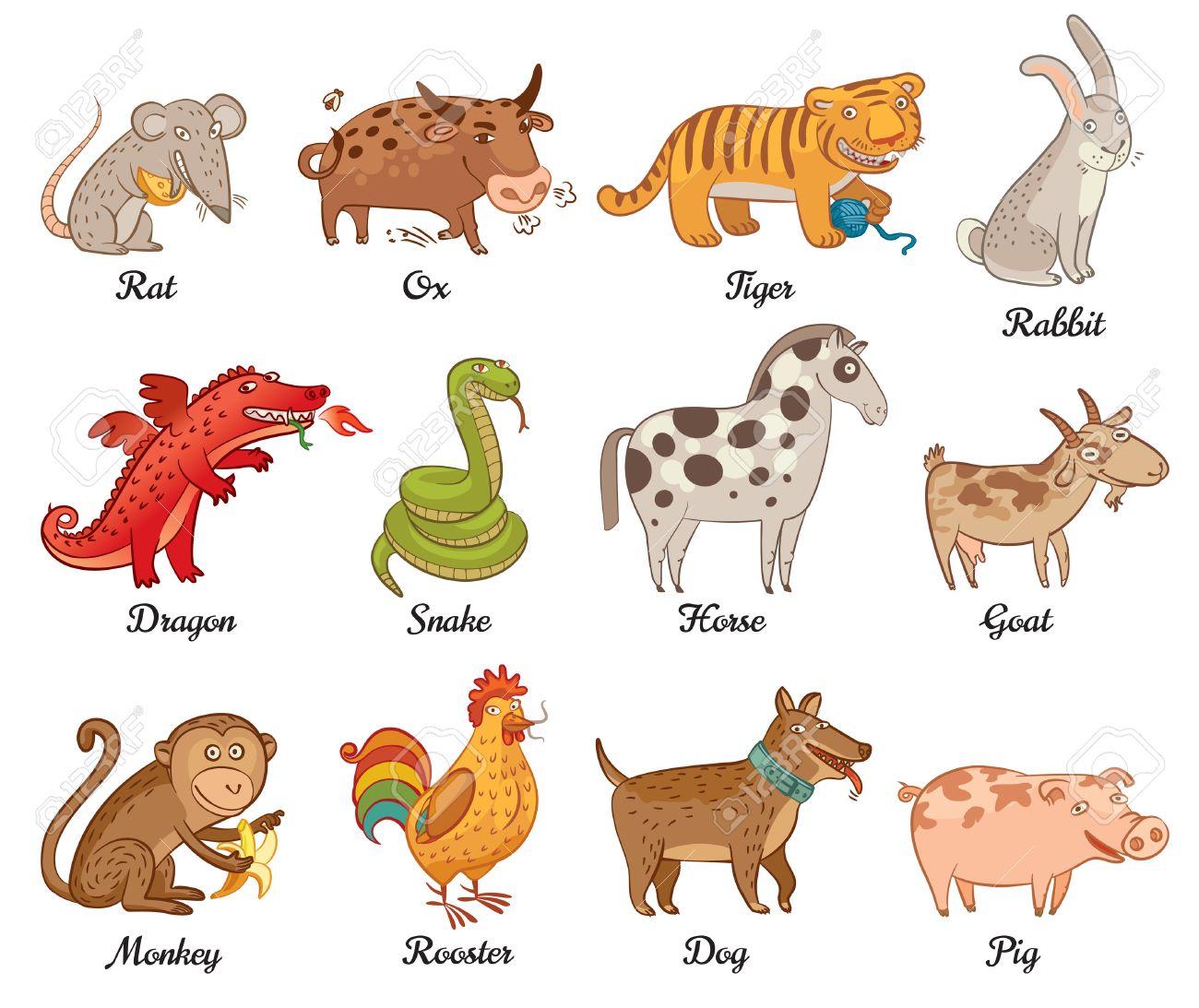 Рисунок животные гороскопа 2