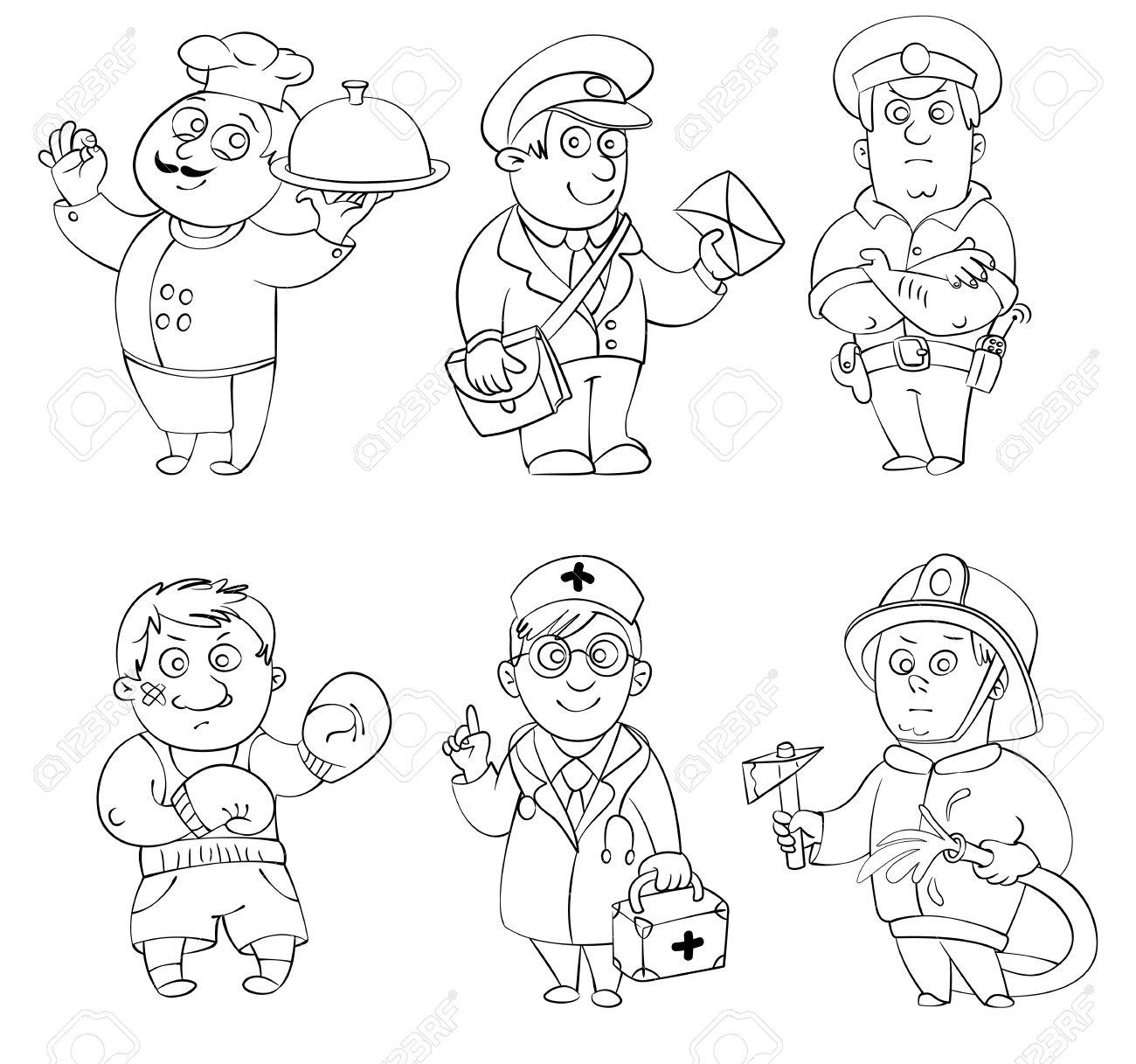 Dibujo De Cartero 004 Dibujos Y Juegos Para Pintar Y Colorear