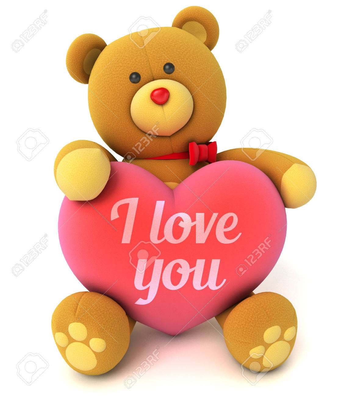 Toy teddy bear holding a heart with the words i love you stock photo toy teddy bear holding a heart with the words i love you congratulation to wedding or valentines day isolated on white background voltagebd Gallery