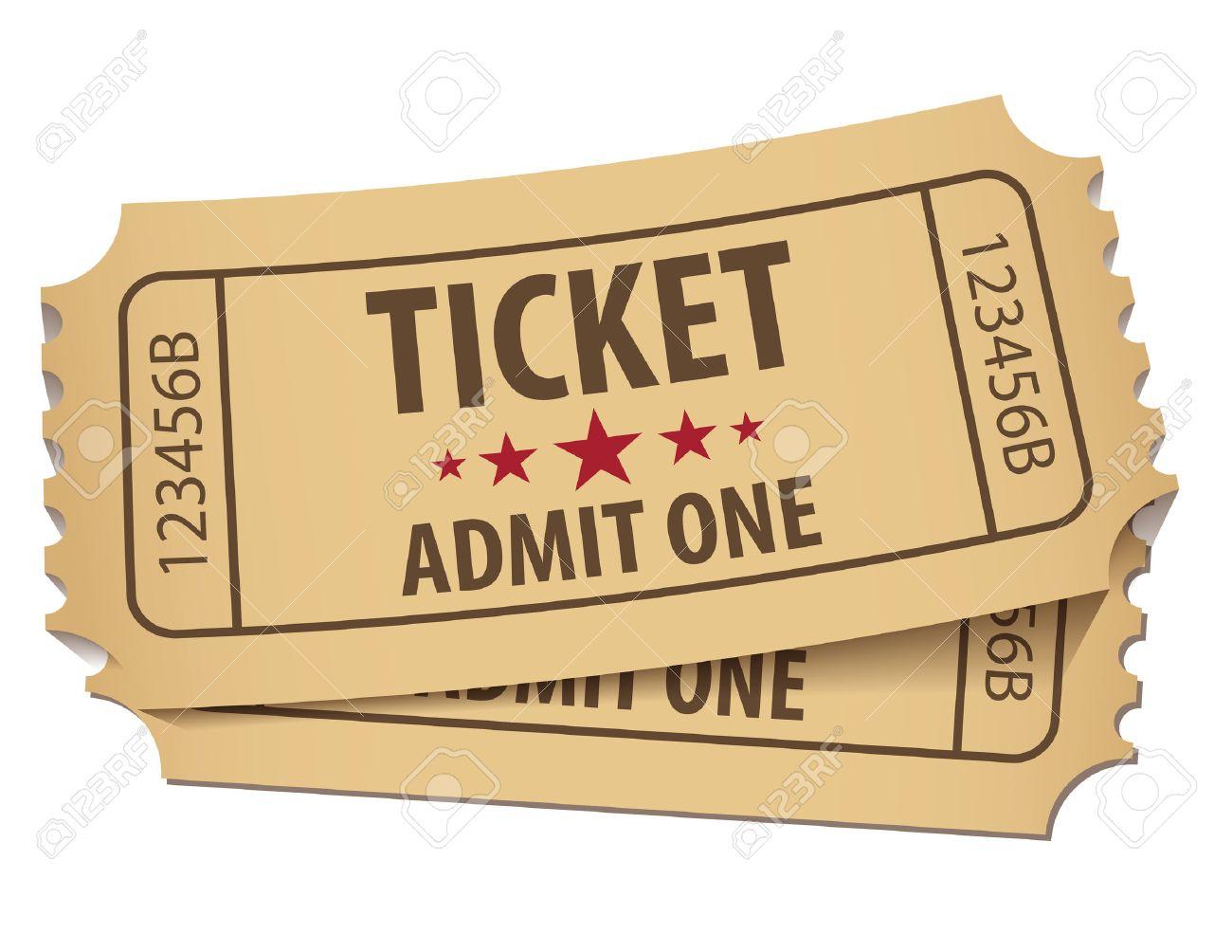 Cinema ticket. Vector illustration. Conceptual illustration. Isolated on white background - 50125046