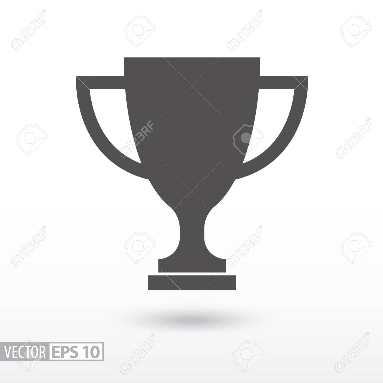 Champions cup flat icon. Sign trophy cup. Vector logo for web design, mobile and infographics. Vector illustration eps10. Isolated on white background. - 69017239