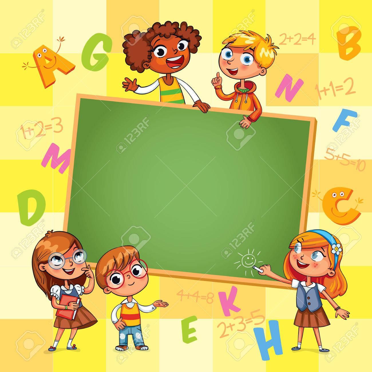 De Vuelta A La Escuela. Plantilla Para El Folleto Publicitario ...