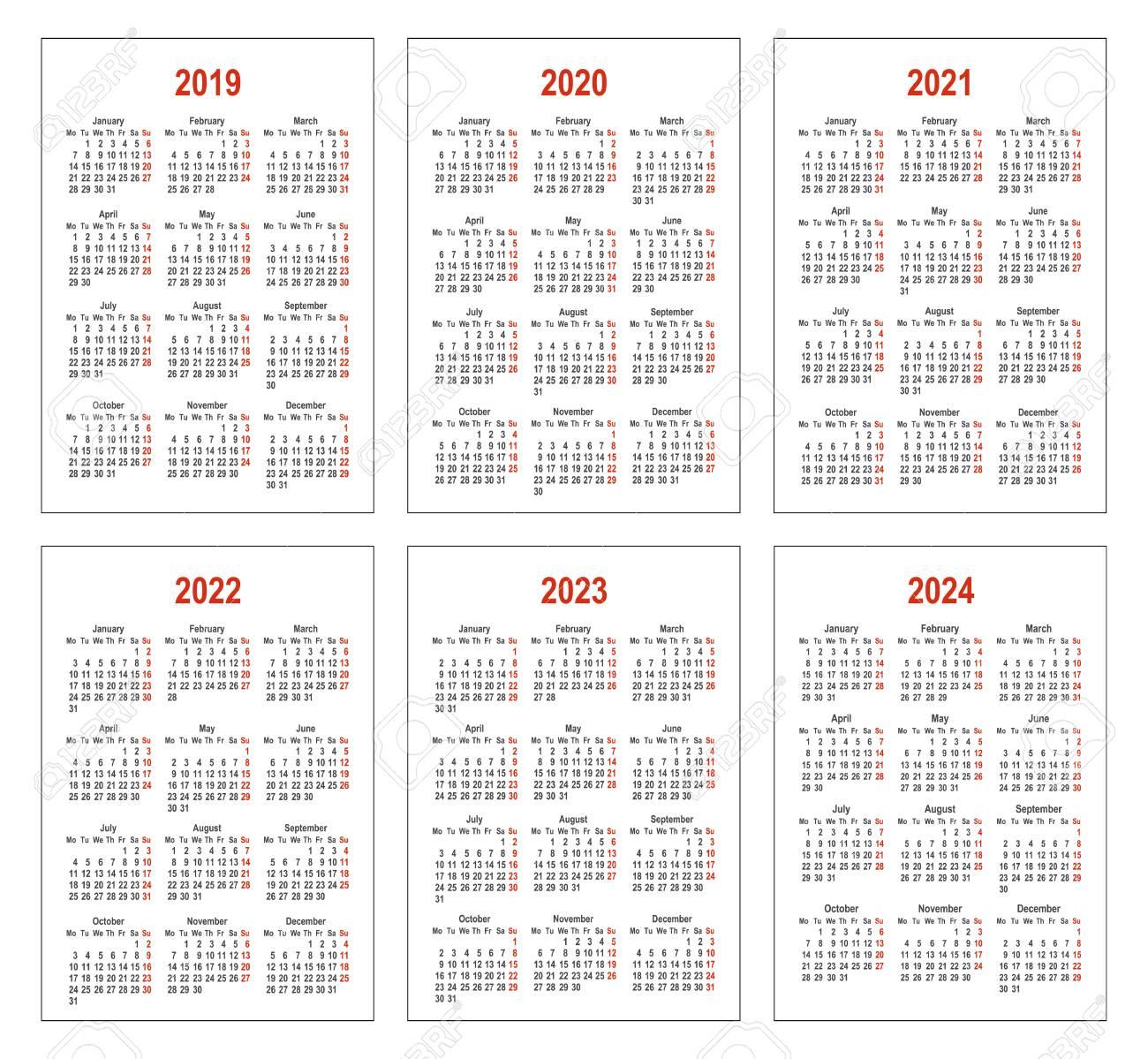 2022 2023 Pocket Calendar.Pocket Vertical Calendars Simple Calendar For 2019 2020 2021 Royalty Free Cliparts Vectors And Stock Illustration Image 115839603