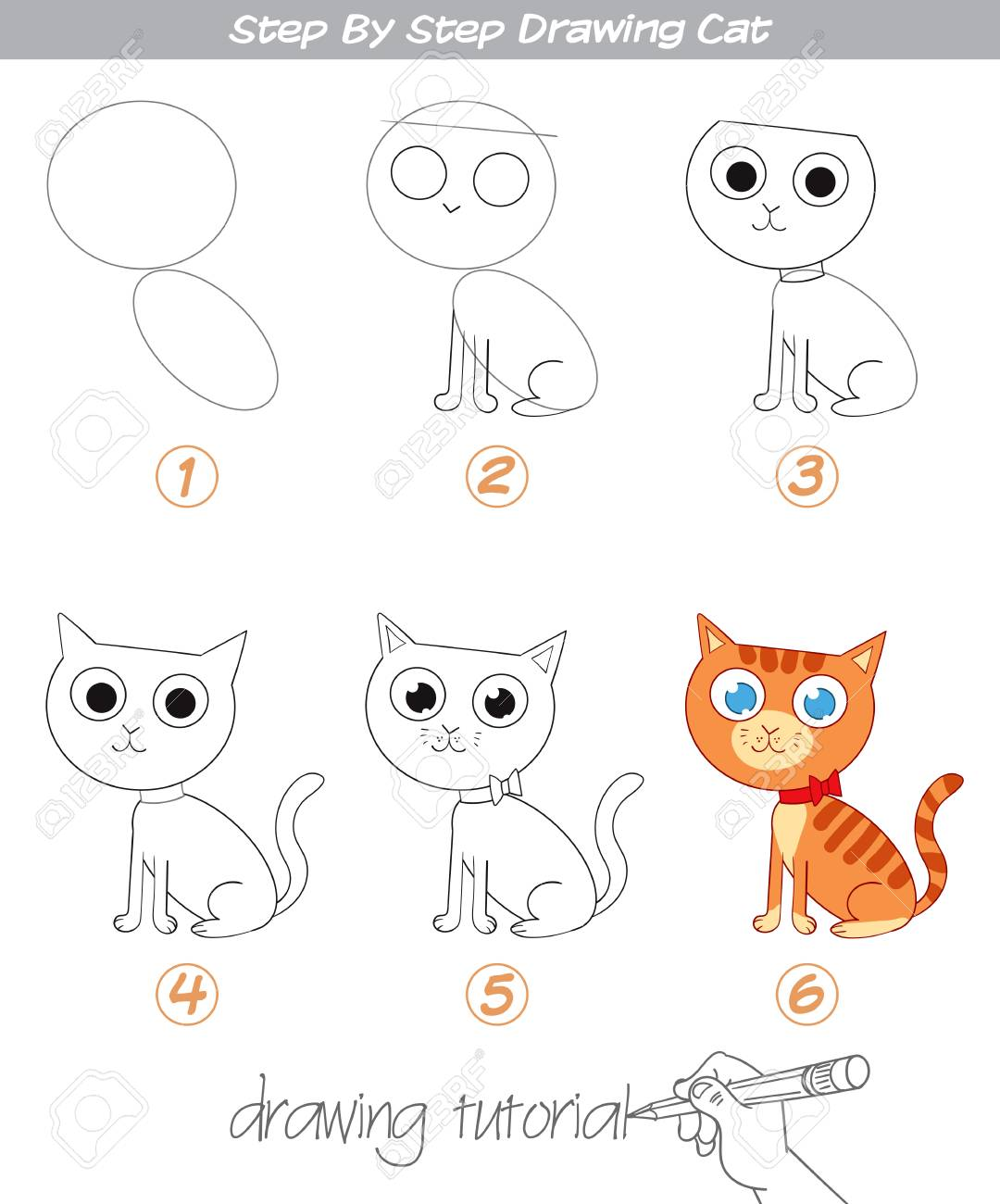 Drawing Tutorial Step By Step Drawing Cat Easy To Drawing Cat