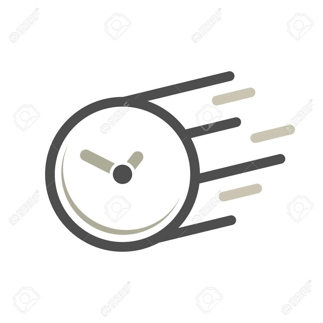 Fast time concept, rush hour logo, training session icon. Flat design illustration - 158733088