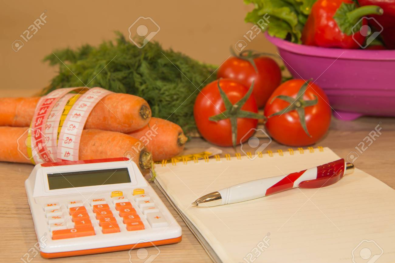 Astonishing Calculator Vegetables Tape Measure And Concept Of Diet And Download Free Architecture Designs Scobabritishbridgeorg
