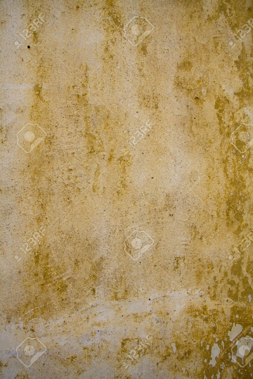 Grunge Wall Background - Ochre Colour Stock Photo, Picture And ...