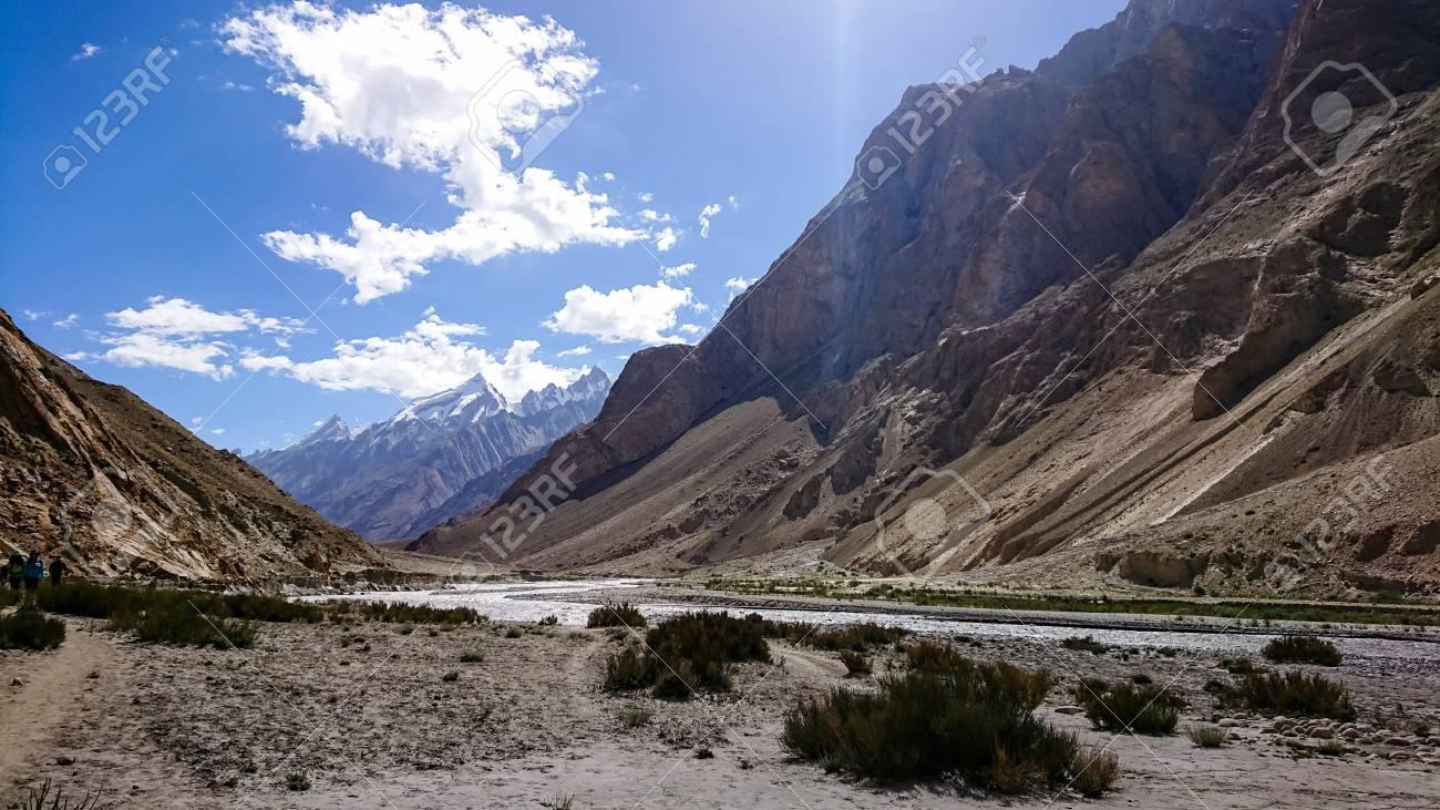 Landscape Of K2 Trekking Trail In Karakoram Range Trekking Along Stock Photo Picture And Royalty Free Image Image 108806363