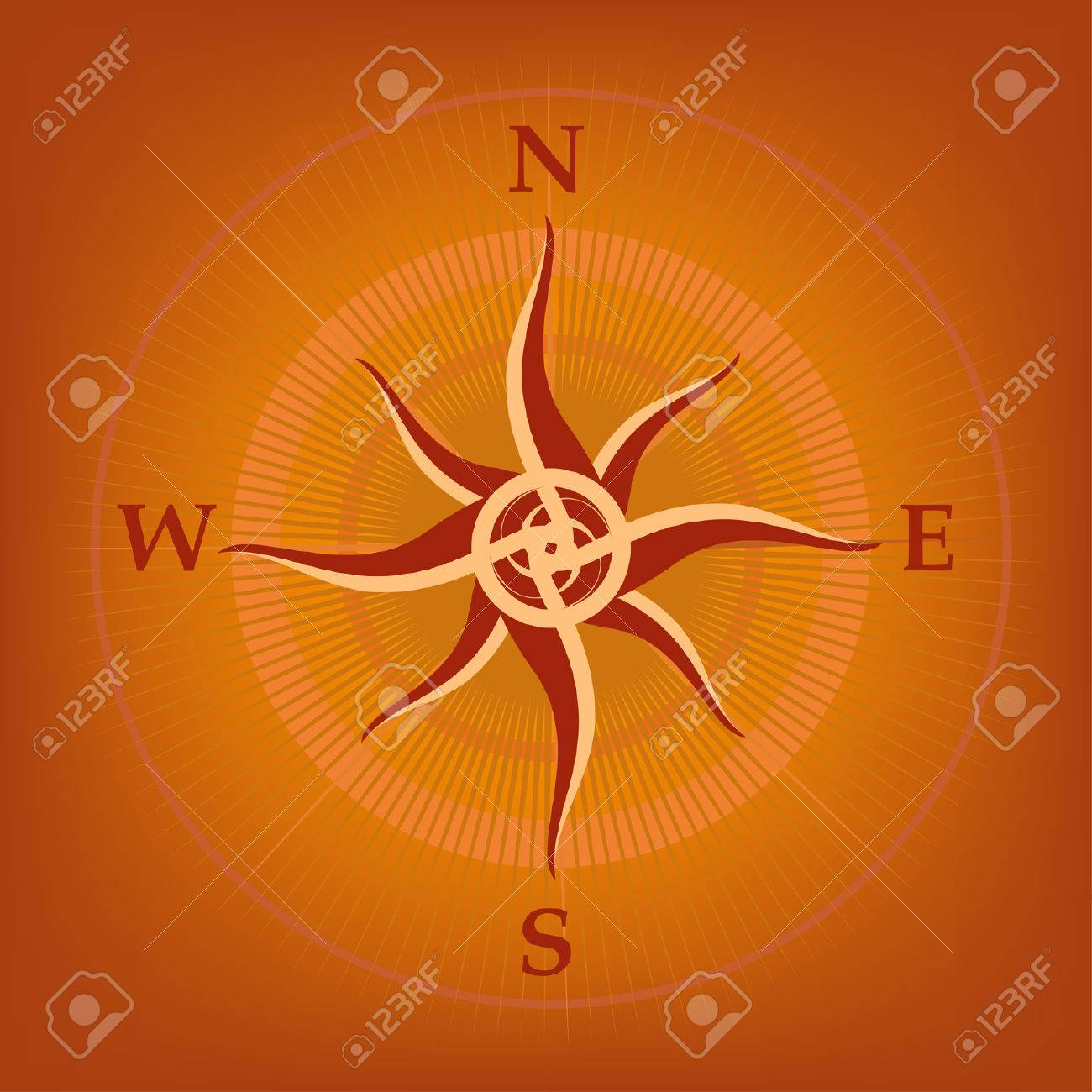 Wind-rose. Vector Compass Stock Vector - 4003505