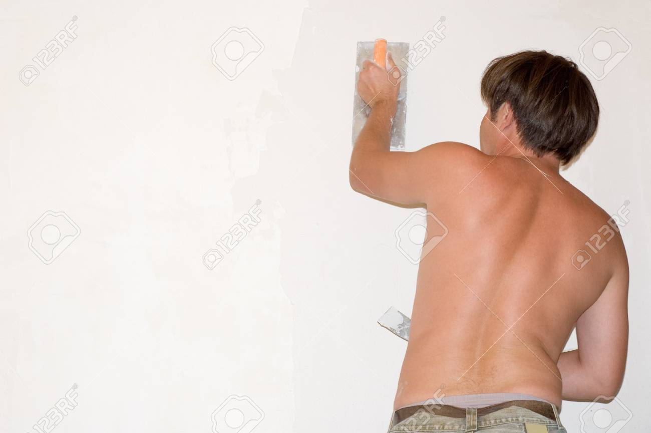 man make renovation indoor against white wall Stock Photo - 4134712