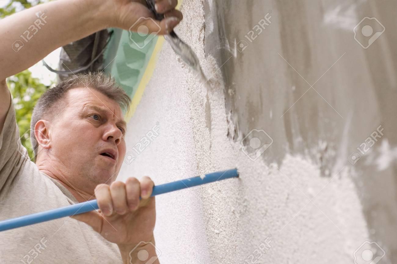 man makes renovation outdoor Stock Photo - 5306976
