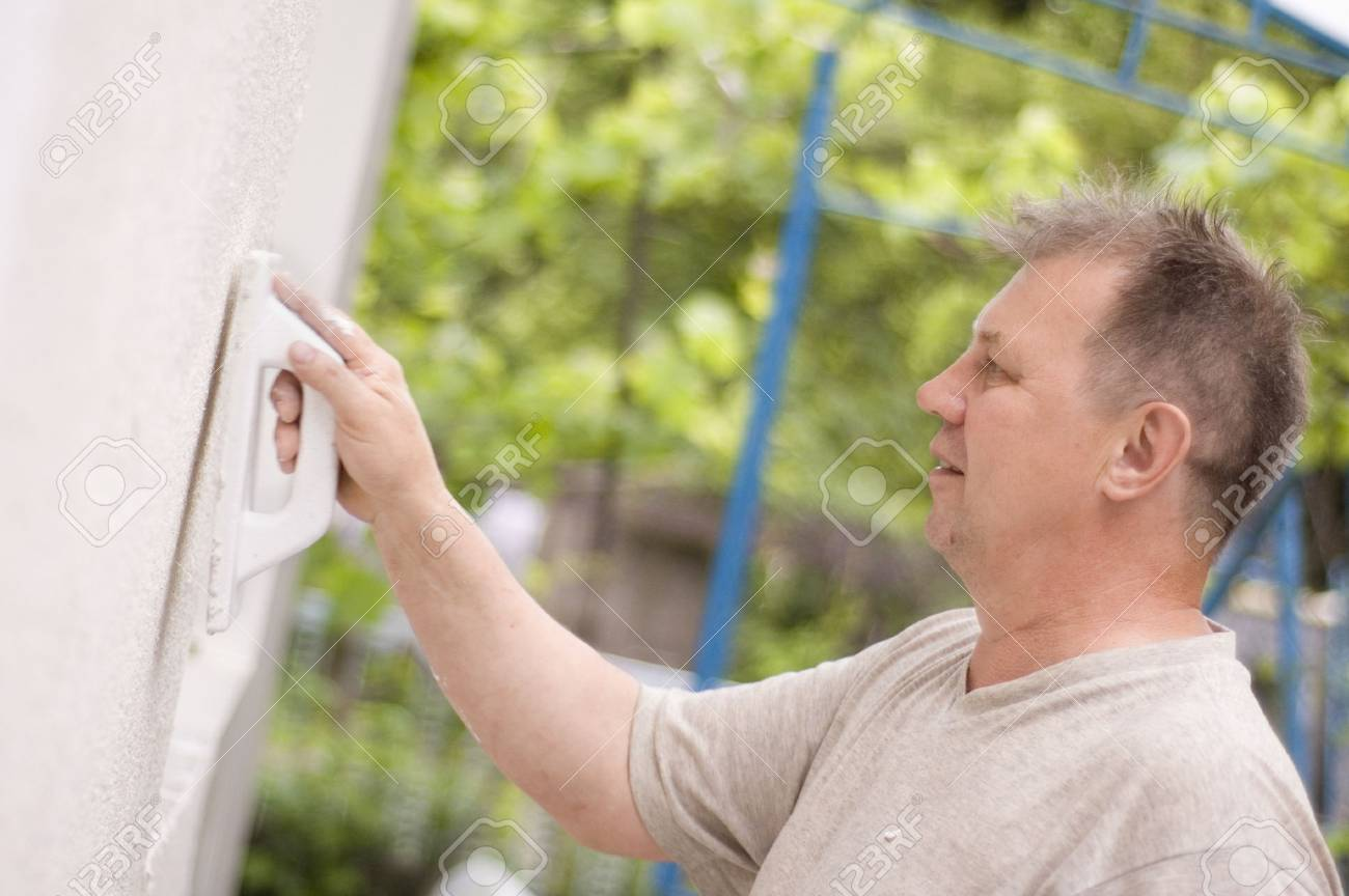 man makes renovation outdoor Stock Photo - 6386027