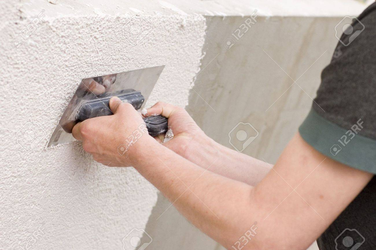 man holding a trowel Stock Photo - 6386341