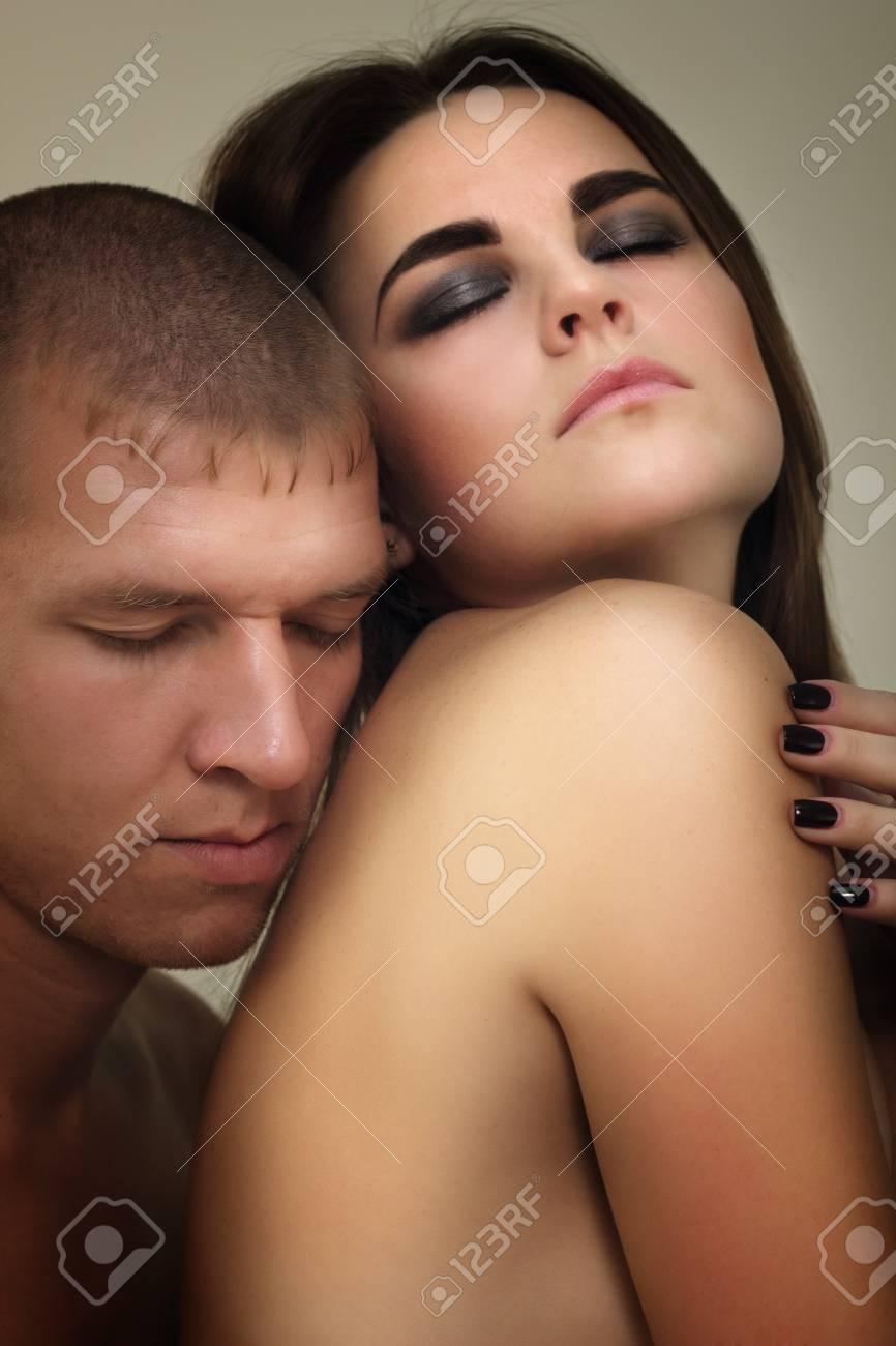 couple heterosexual in love studio shot Stock Photo - 8503759