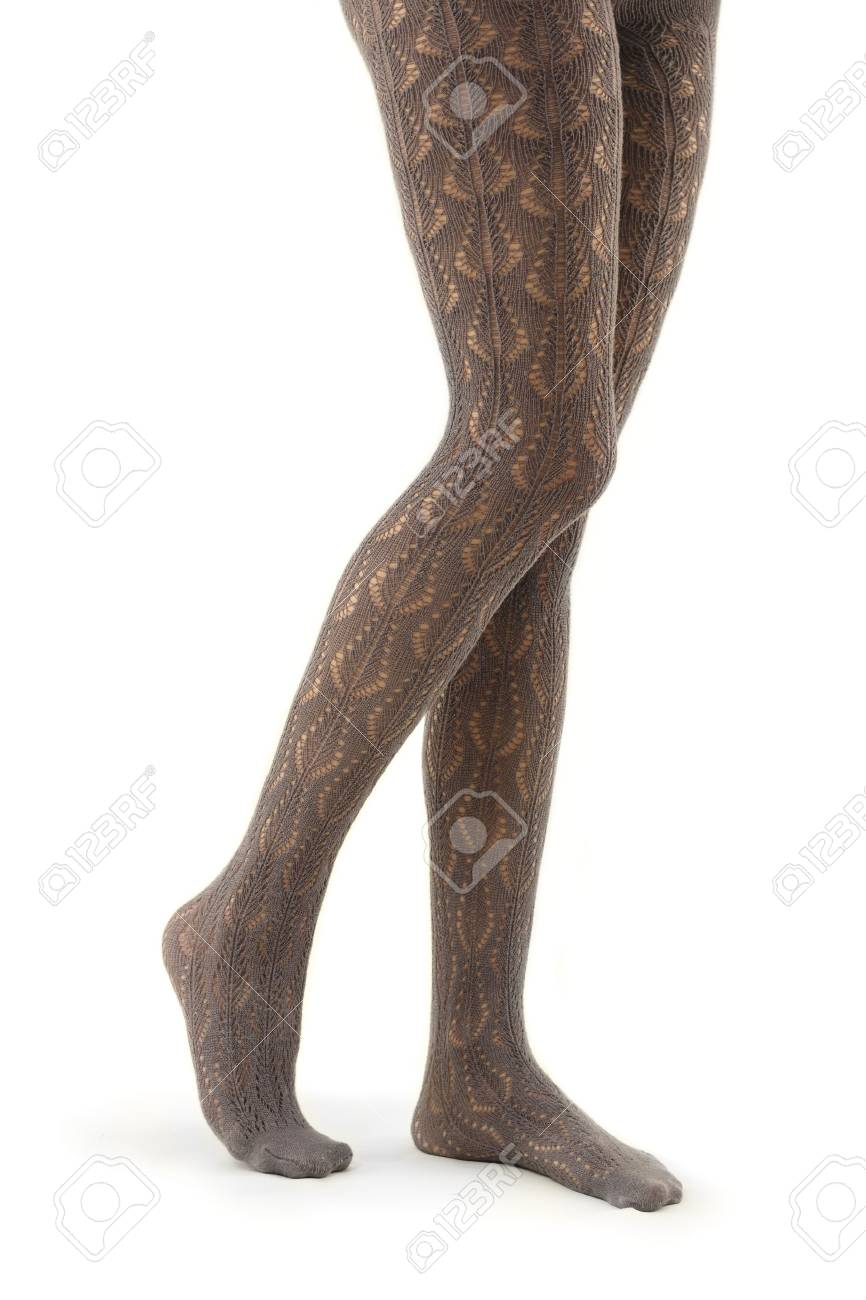 legs long female in tights isolated on white background Stock Photo - 8484084