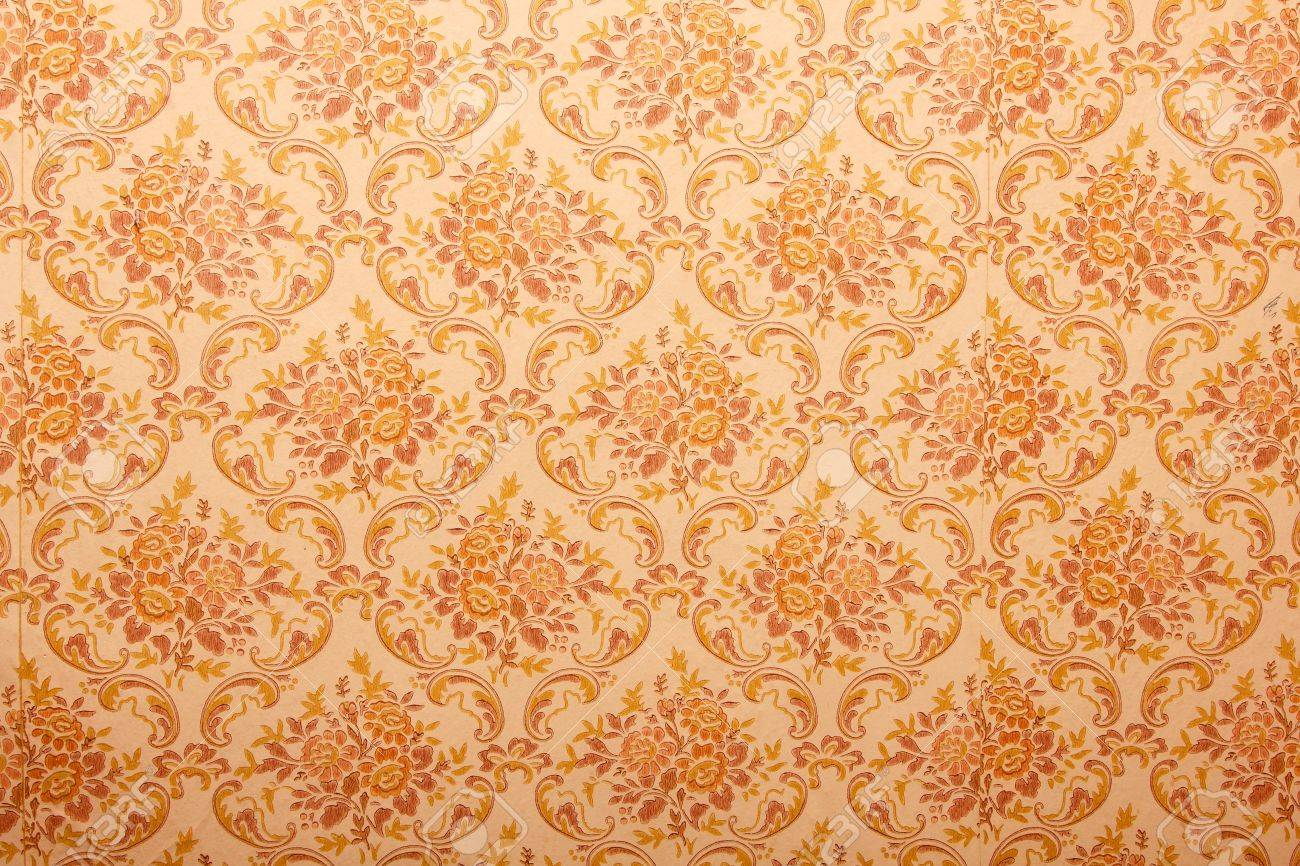 Vintage Floral Wallpaper Background Stock Photo Picture And