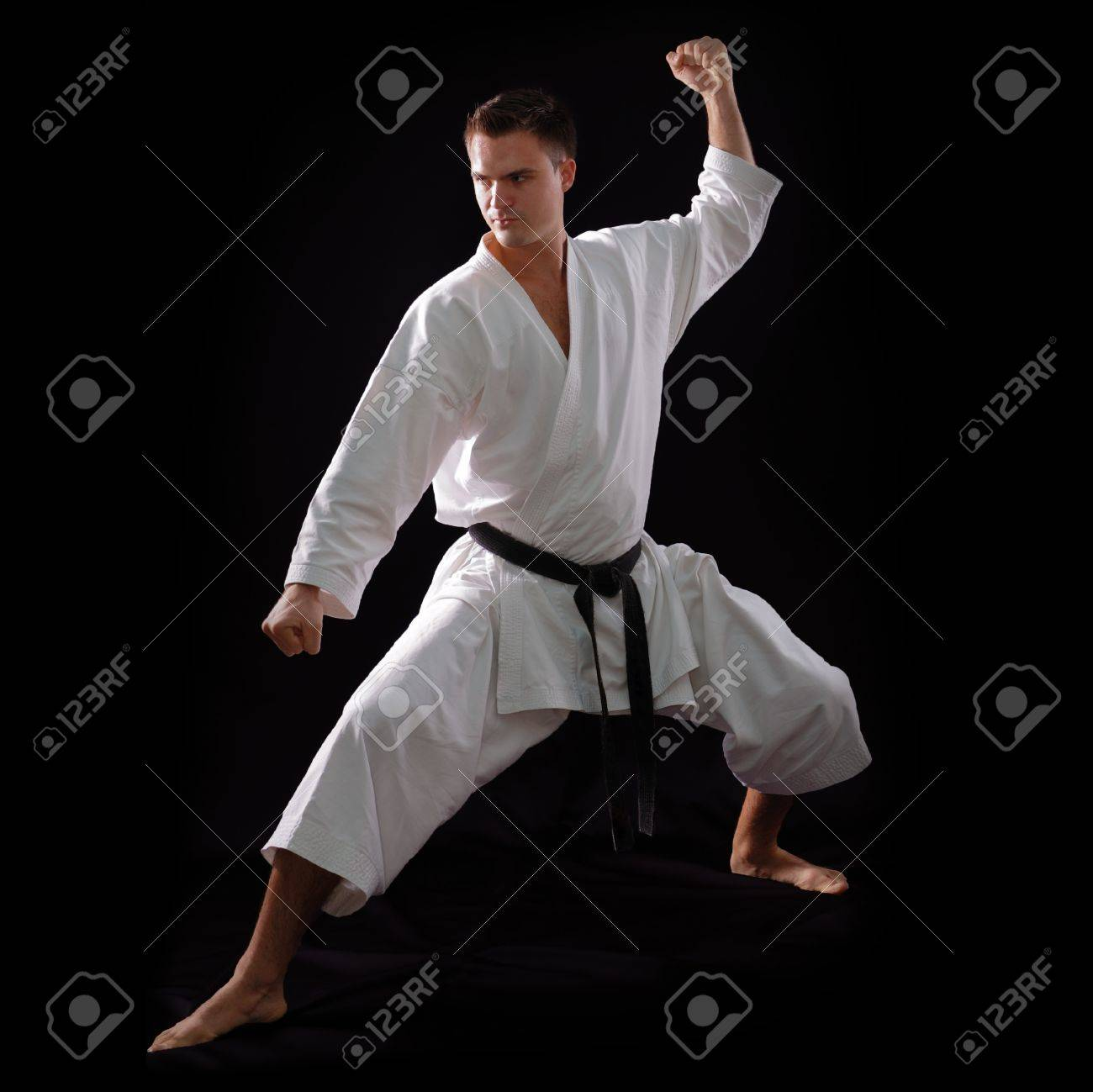 A student who earns a black belt has learned their basic blocks, kicks, and punches.