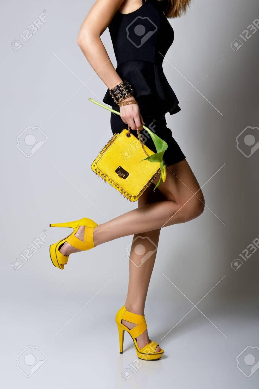 Fashion Girl. Young Woman Posing In