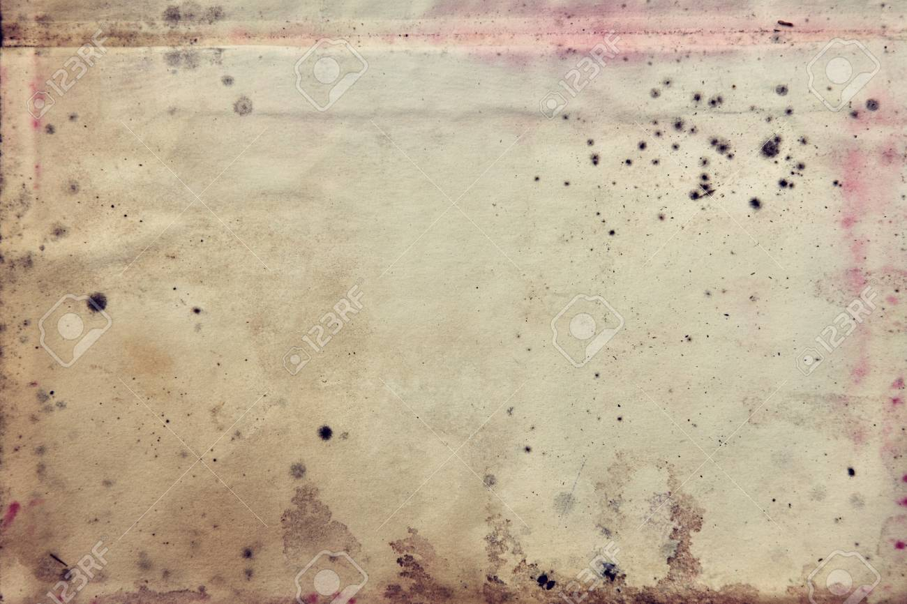 Grunge Vintage Very Old Paper Blank Letter Stock Photo