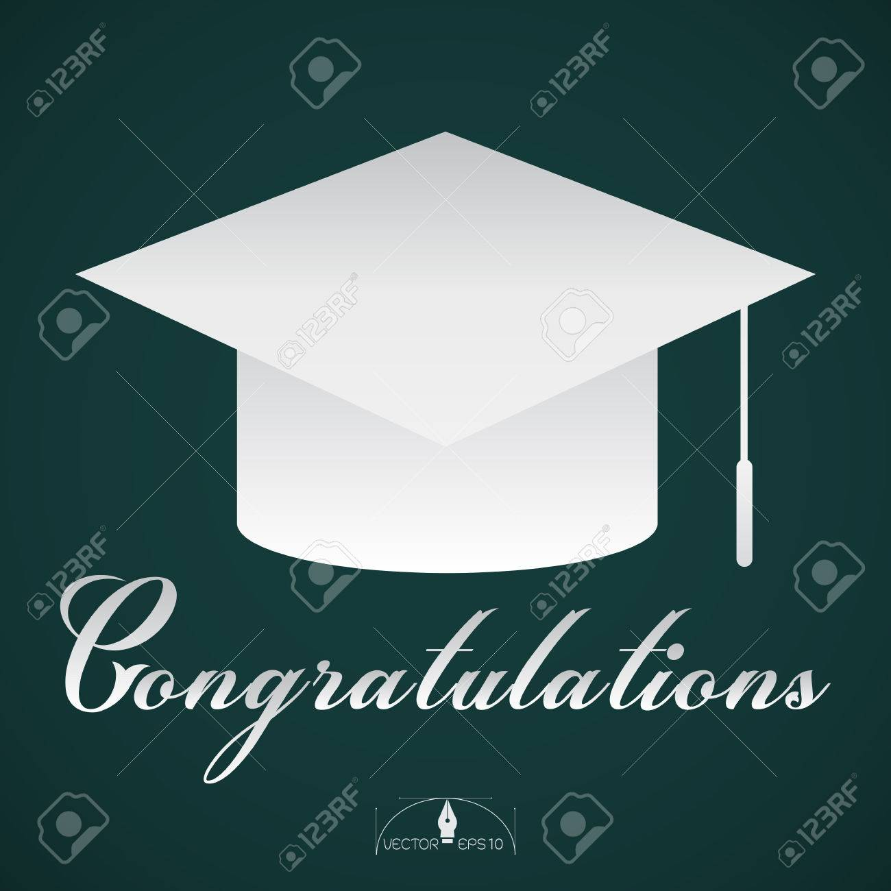 congratulations graduation cap poster background royalty free