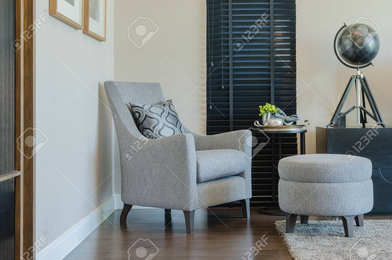 Awesome Classic Style Chair And Round Bench With Black Curtain In Living Ncnpc Chair Design For Home Ncnpcorg