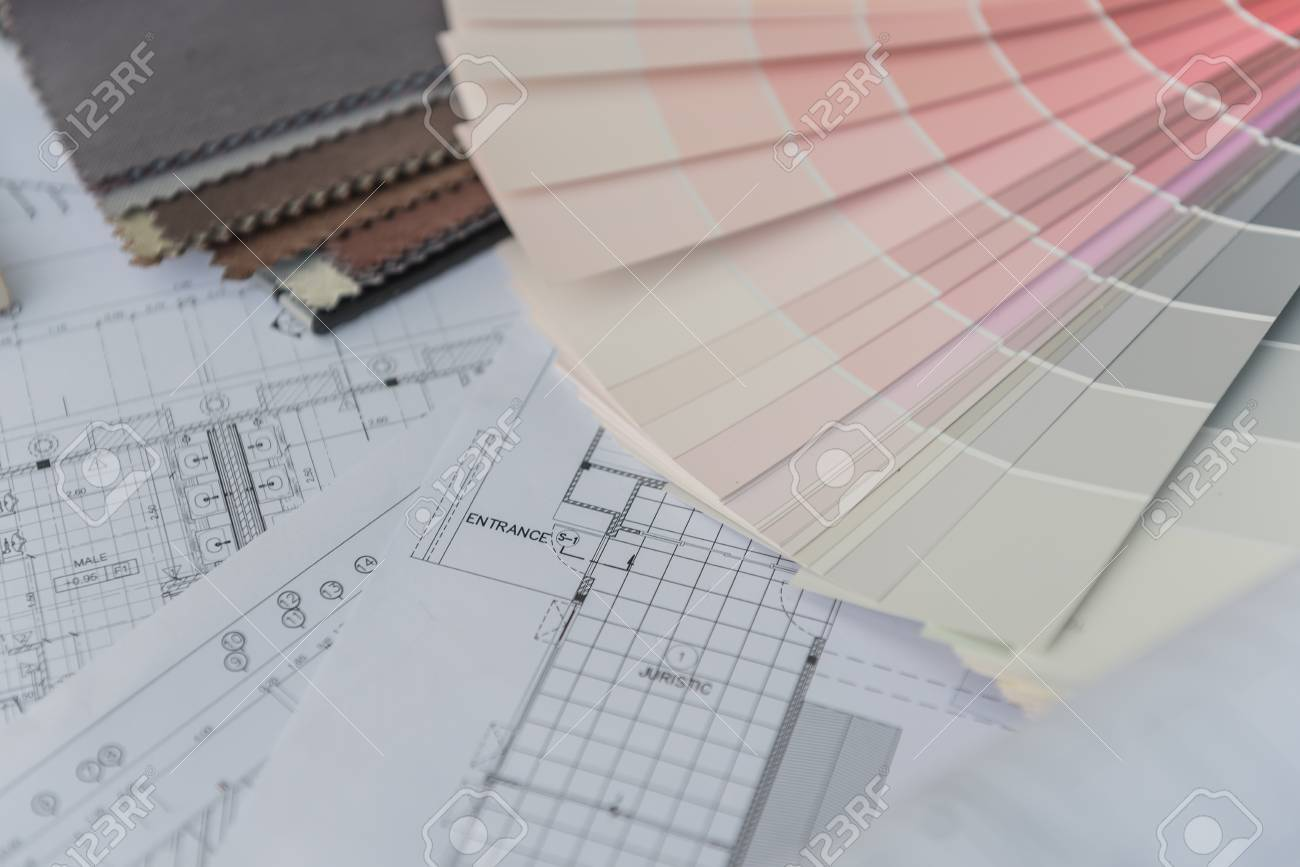 Interior drawing with material color scheme design stock photo interior drawing with material color scheme design stock photo 50288642 ccuart Choice Image