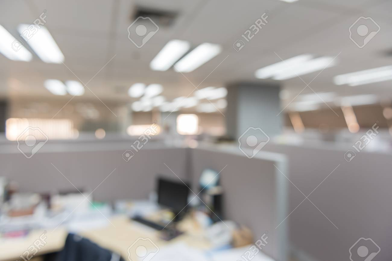 Blurred Modern Office Interior As Background Image Stock Photo