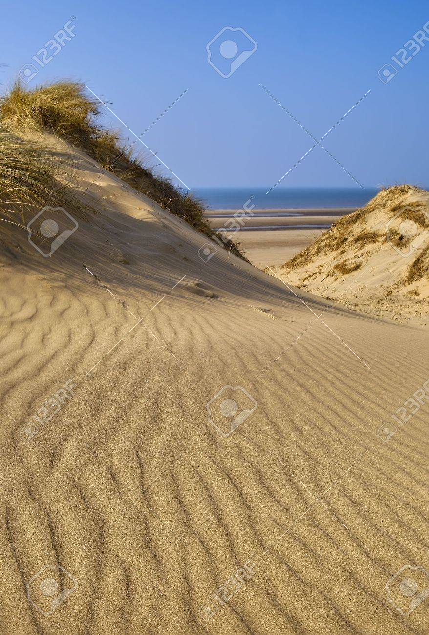 Sand Dunes Of Formby Near Liverpool On The North West Coast Of Stock Photo Picture And Royalty Free Image Image 4817369