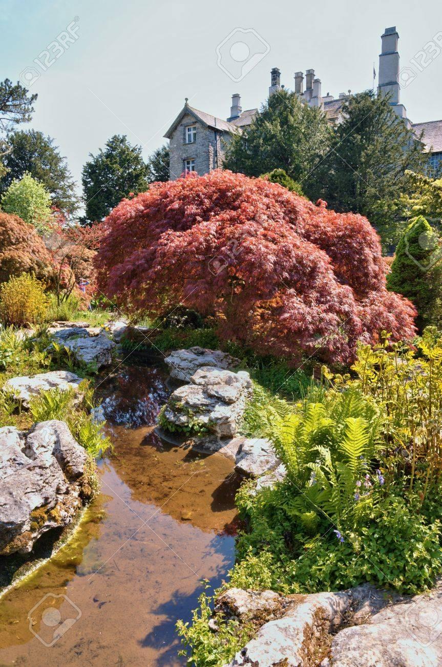 Sizergh Castle Cumbria England Mit Einem Abschnitt Der Garten Die