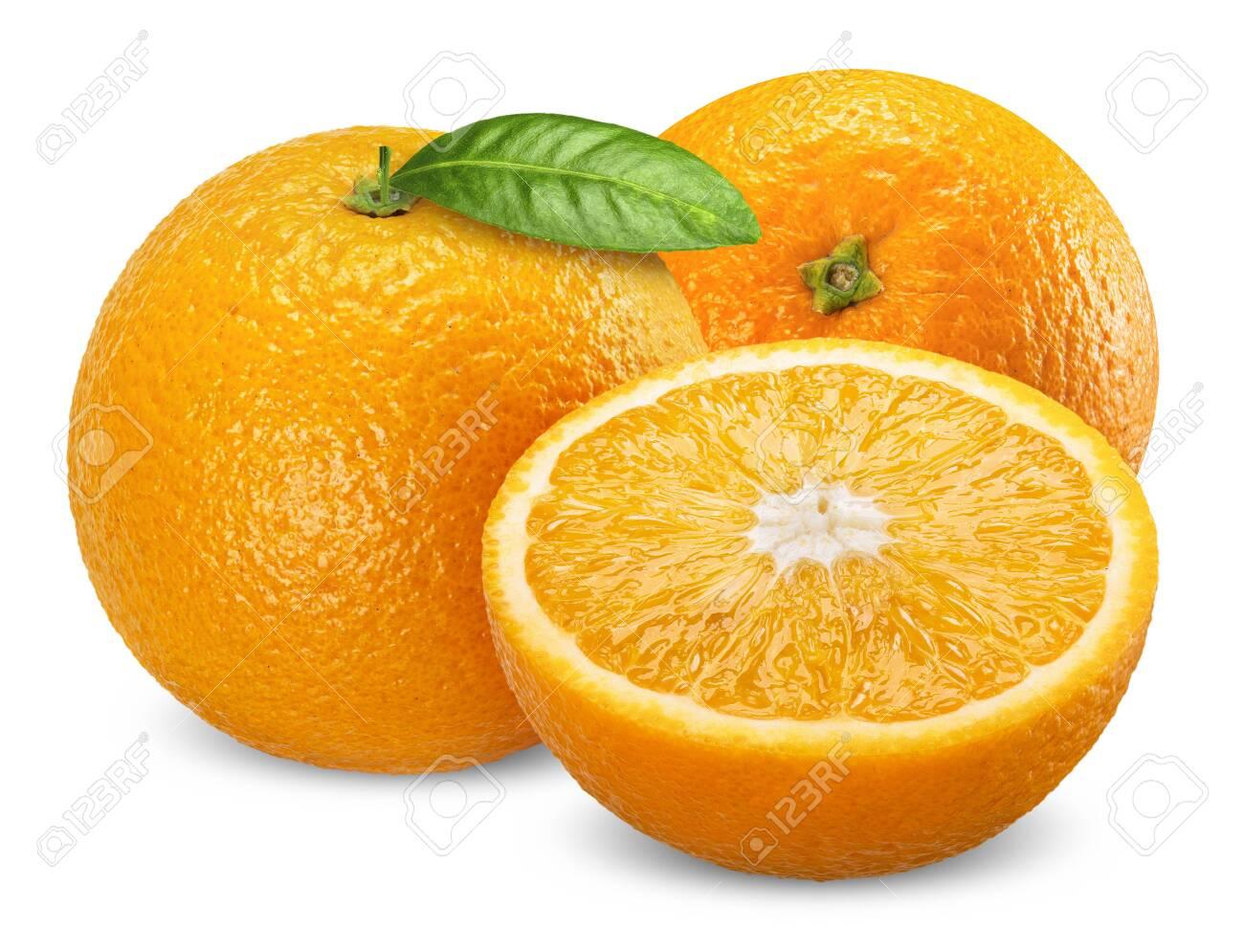 orange fruit isolated on white, orange clipping path - 142778733