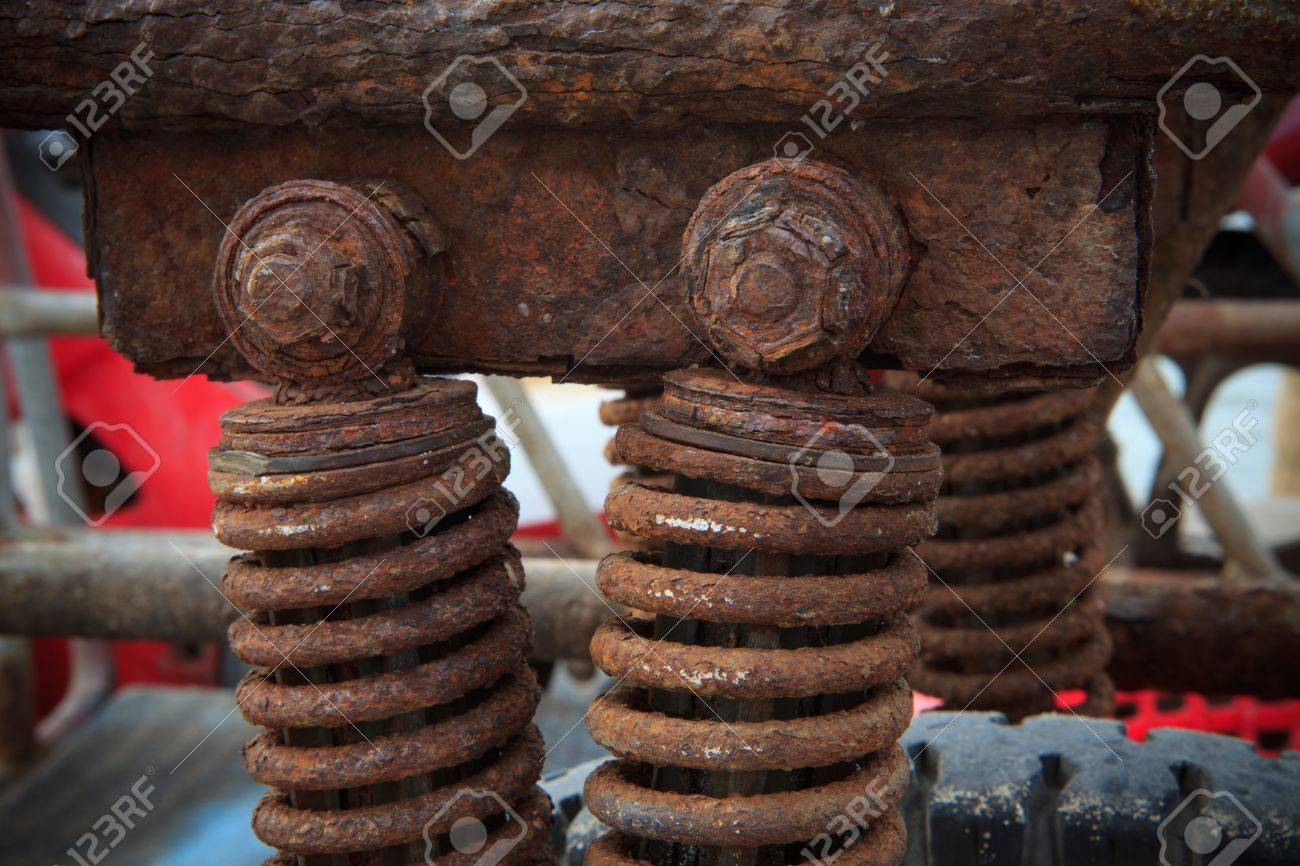 Stock Photo  rust on shock absorber Stock Photo - 13463499