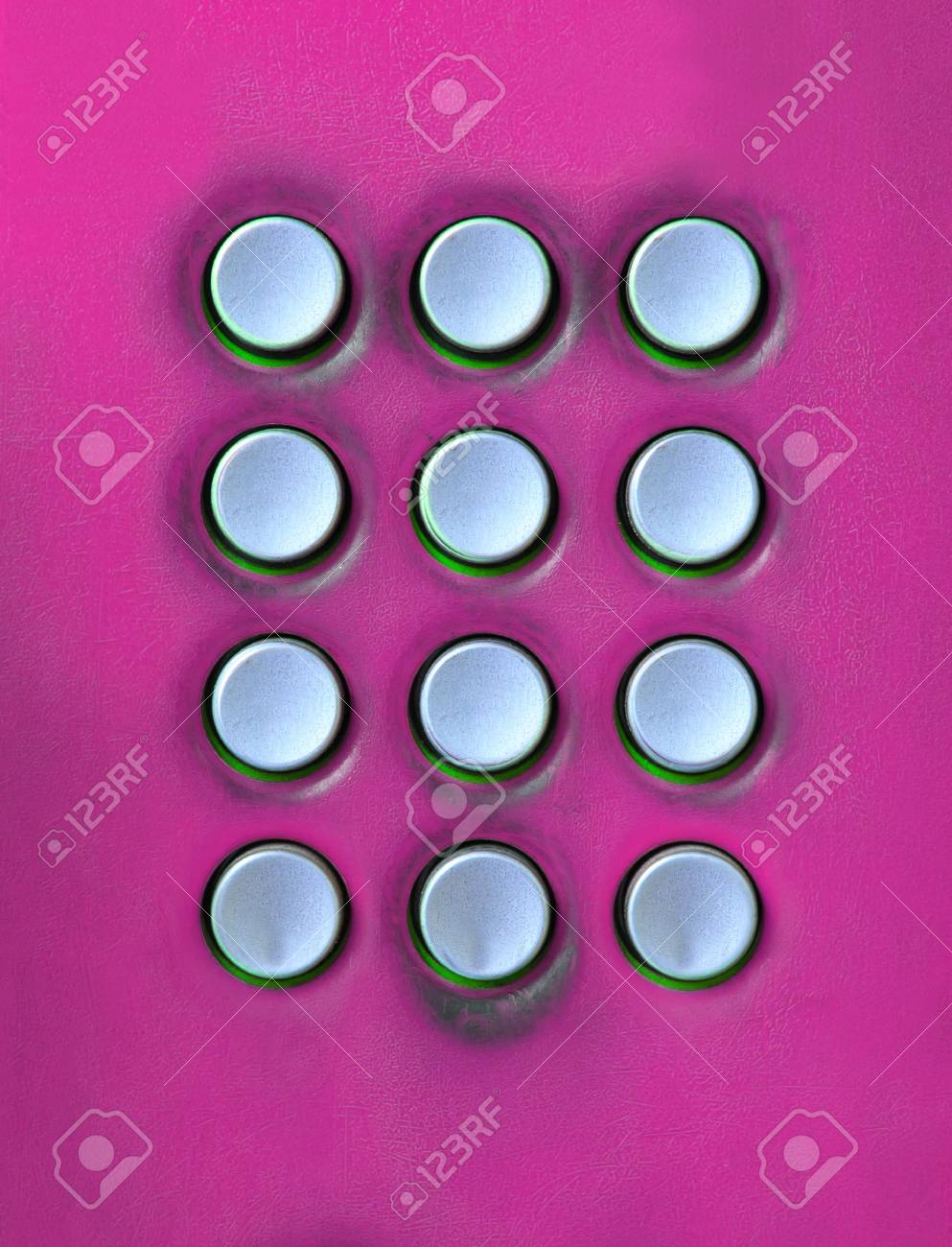 key board of number press button on public telephone free space for use as multipurpose on colorful texture Stock Photo - 15119718