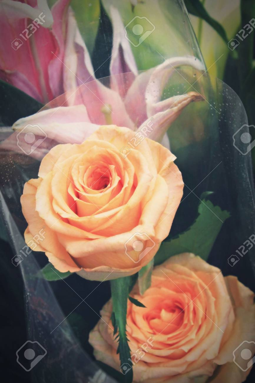 yellow roses  bouquet flowers Stock Photo - 17391783