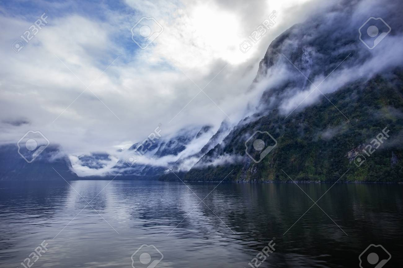 Foggy Weather In Milford Sound Fiordland National Park Most Popular