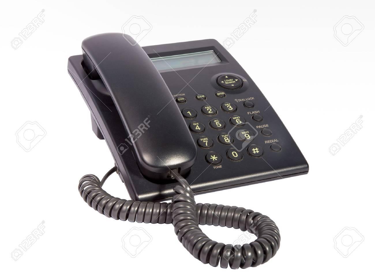 Telephone isolated on white background - 50122376