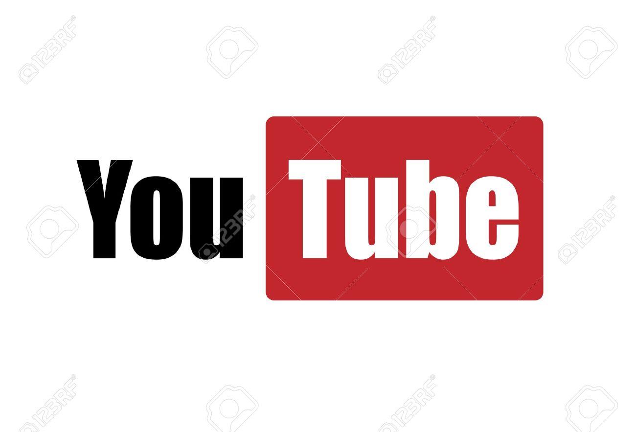 youtube logo on white background Stock Photo - 11457937