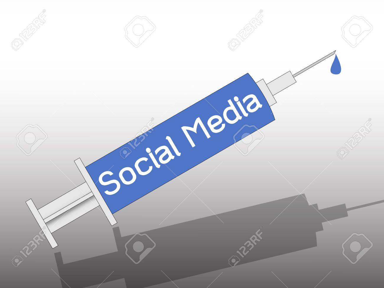 social media on syringe , metaphorical Stock Photo - 12191566