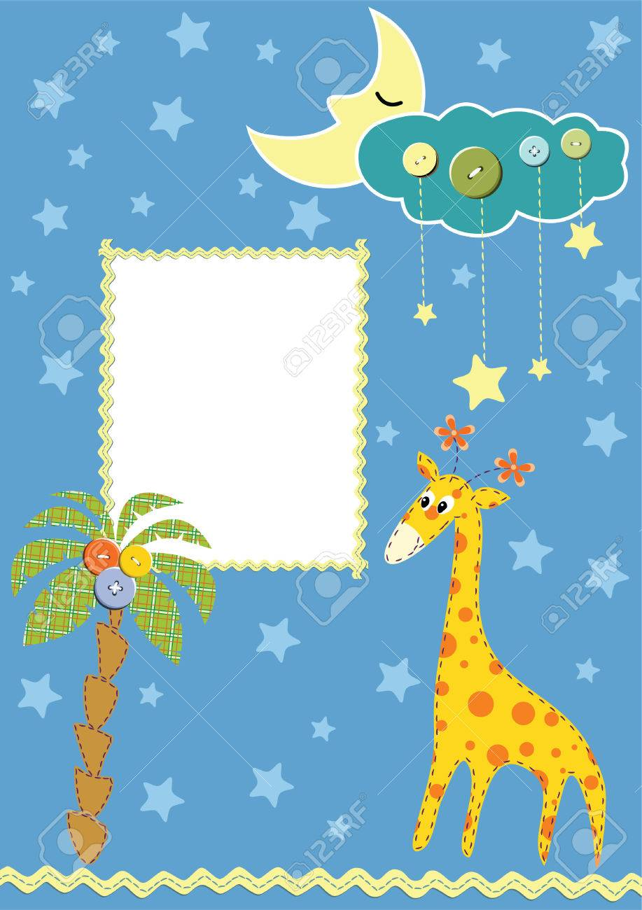 Baby frame or card. Stock Vector - 7675179