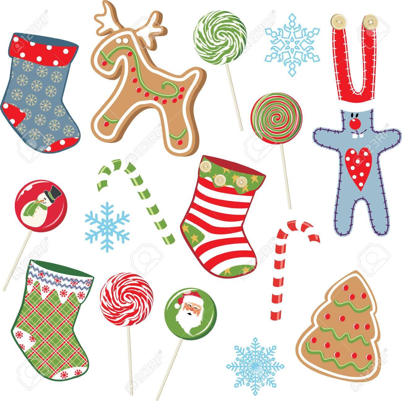 Christmas set Stock Vector - 8553193
