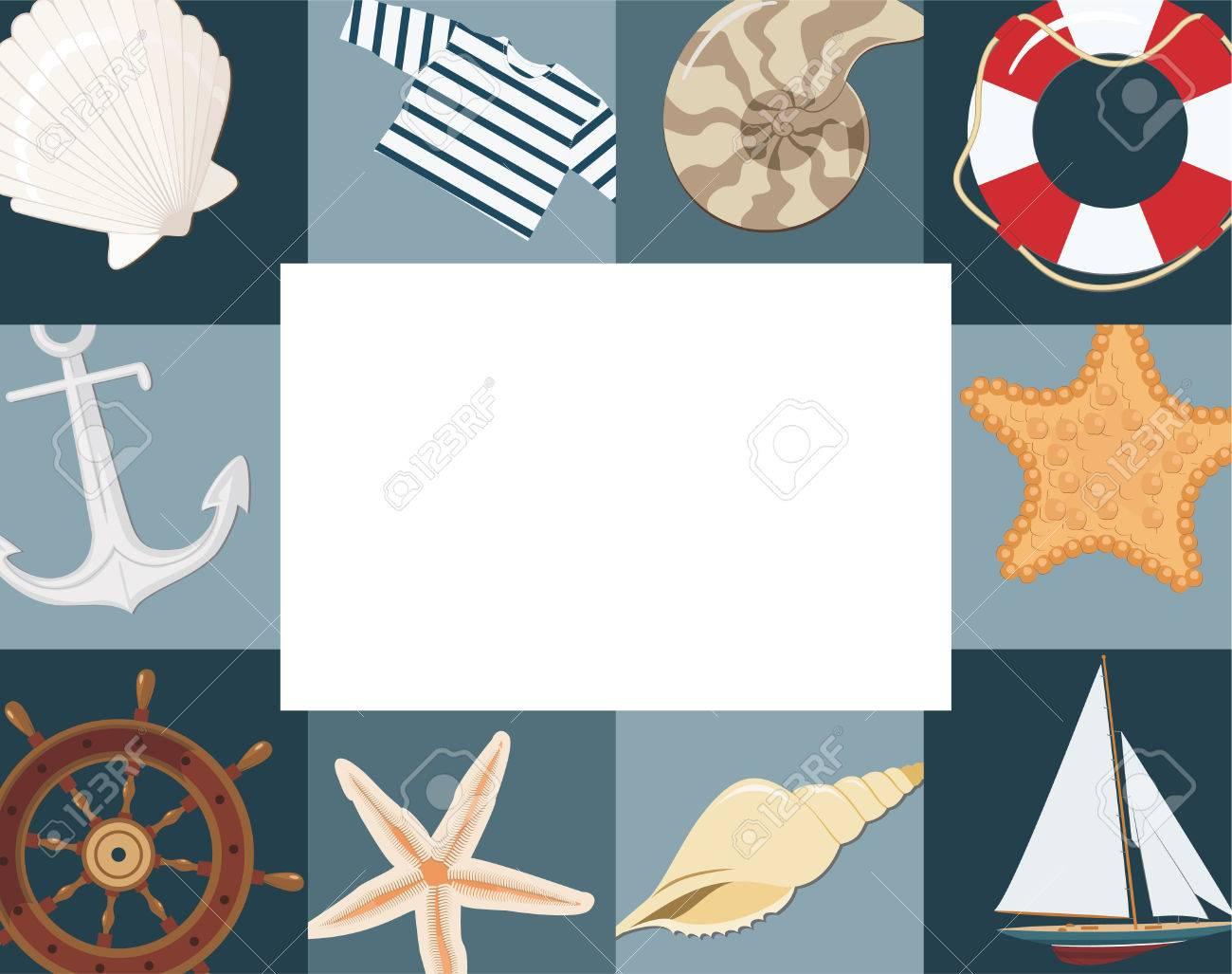 Marine framework Stock Vector - 8553190