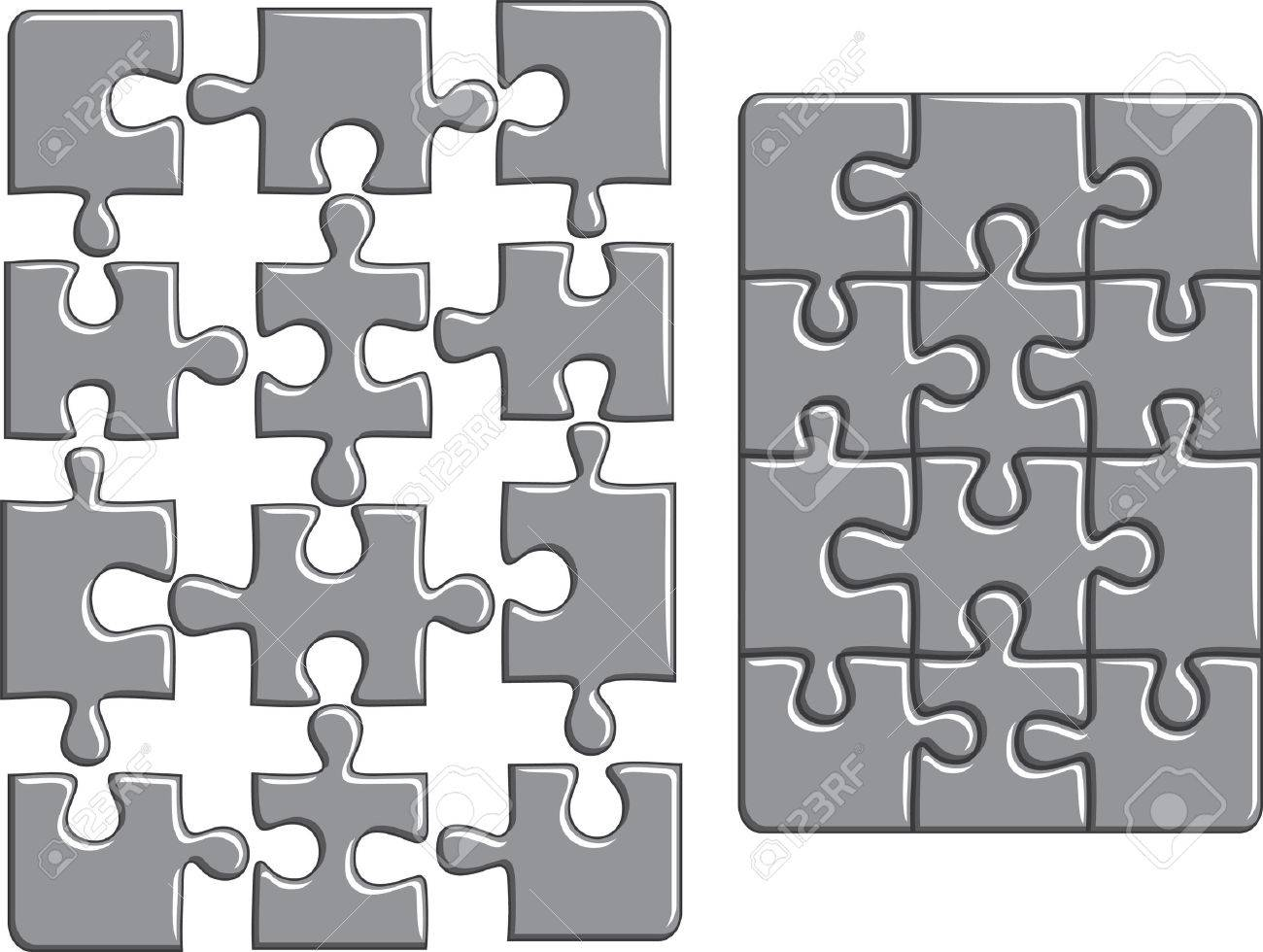 Puzzle background.  illustration Stock Vector - 8553178