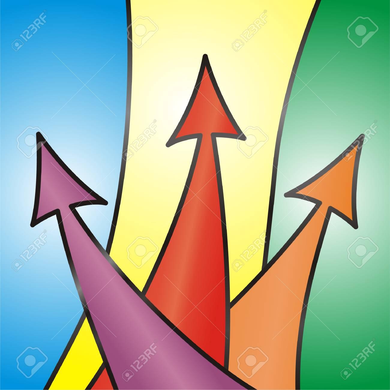 Abstract Arrow Background. Vector illustration. Stock Vector - 14782236
