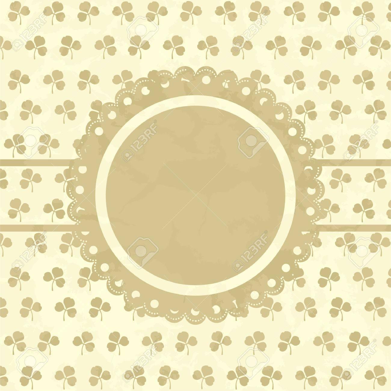 Clover design vintage frame. Stock Vector - 14948207