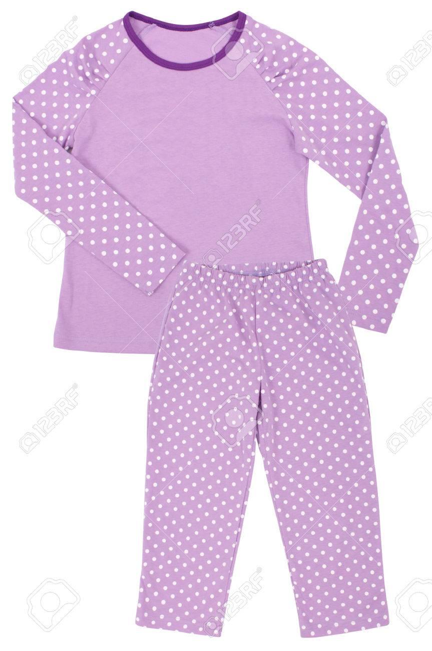 073f354d21f2 Foto de archivo - Rosa para niños niñas conjunto pijama aisladas sobre  fondo blanco