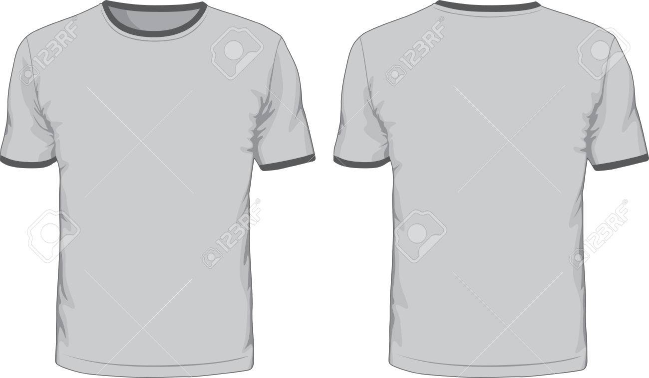 men s t shirts template front and back views royalty free cliparts
