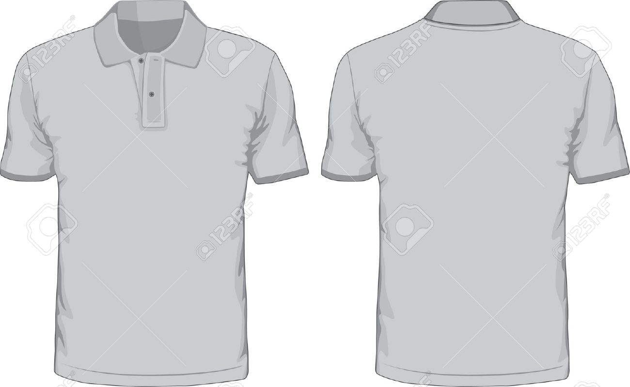 Men s polo shirts template front and back views royalty free men s polo shirts template front and back views stock vector 30411478 maxwellsz