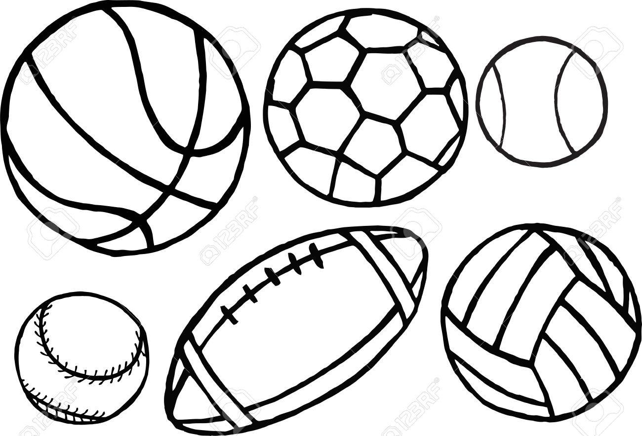 Set Of Different Sport Balls Vector Royalty Free Cliparts Vectors And Stock Illustration Image 30644591